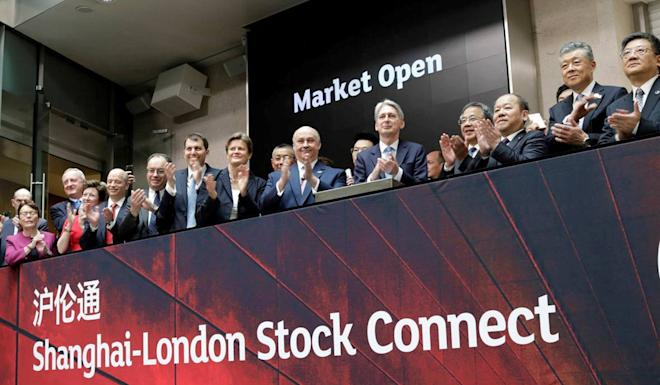 The London-Shanghai Stock Connect, which allows foreign firms to list their shares in mainland China, launched on June 17. Photo: Reuters.