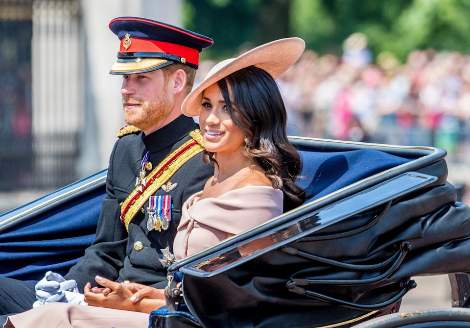The Duke and Duchess of Sussex during Trooping the Colour 2018 ceremony [Photo: PA]