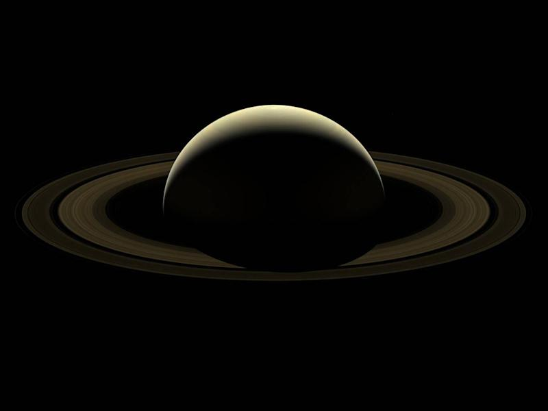 This composite image of Saturn was created from a number of pictures taken by Cassini on its final trip around the planet (NASA)