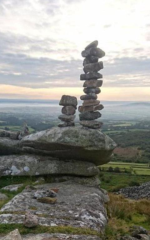 """Stone stacking"" at Stowe's Pound on Bodmin Moor, an early Neolithic site - Credit: APEX"