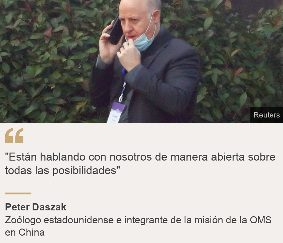 """""Están hablando con nosotros de manera abierta sobre todas las posibilidades"""", Source: Peter Daszak , Source description: Zoólogo estadounidense e integrante de la misión de la OMS en China, Image: Peter Daszak"
