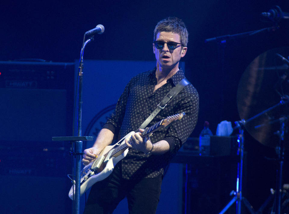 Noel Gallagher, formerly of the band Oasis, performs in concert with Noel Gallagher's High Flying Birds at the BB&T Pavilion on Thursday, Aug. 8, 2019, in Camden, N.J. (Photo by Owen Sweeney/Invision/AP)