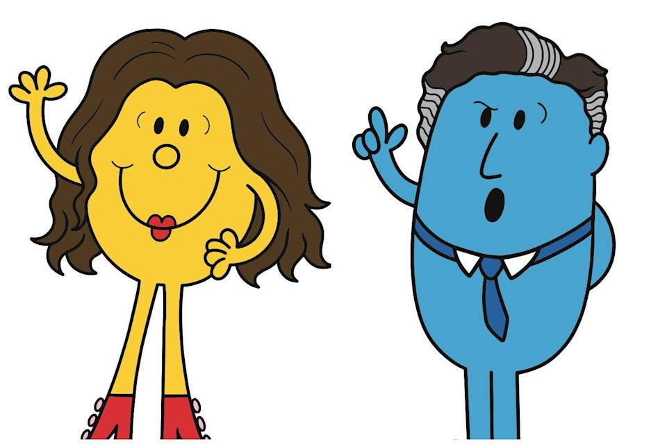 <p>Little Miss Pouty and Mr Shouty - Susanna Reid and Piers Morgan in Mr Men form</p> (PA)