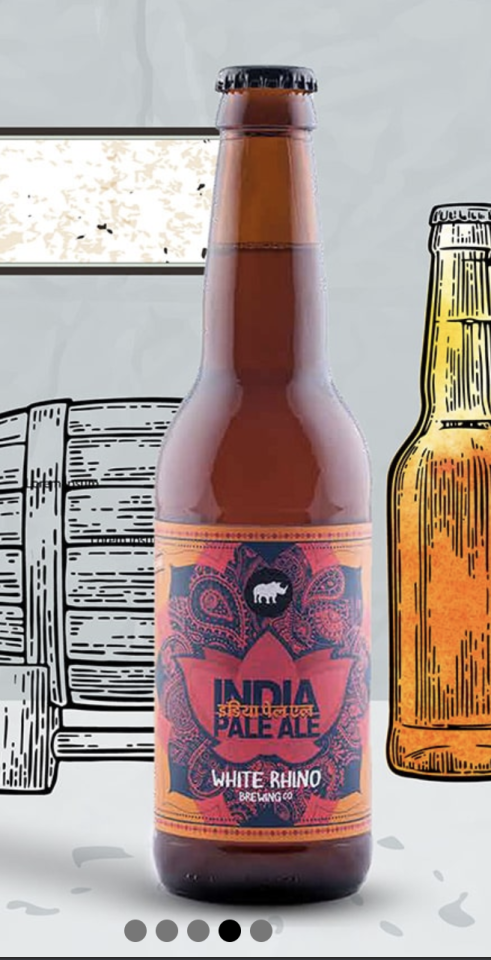 White Rhinois an Indian brewery located inMalanpur, on the outskirts ofGwalior, India. It is the first craft beer to be brewed and bottled in India. White Rhino Brewing Co was founded by Ishaan Puri in 2016 in Malanpur, near a tributary of the Chambal River, which supplies the brewery with brew-quality water.