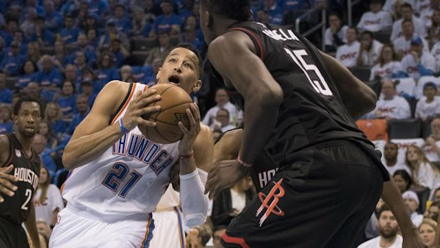 Roberson struggled from the line on Sunday, and Rockets reserves were enjoying it.
