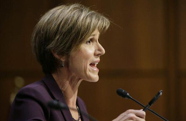 Former Deputy Attorney General Sally Yates testifies before the Senate Judiciary Committee on May 8. (Photo: Jim Bourg/Reuters)
