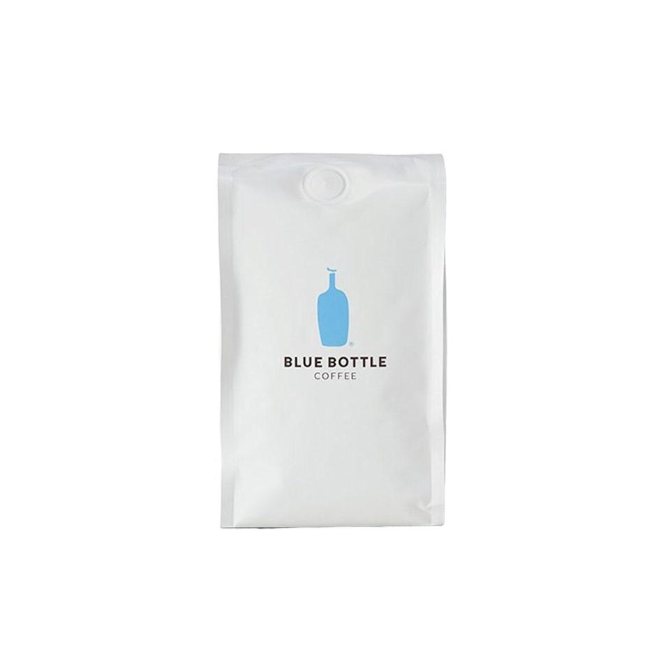 """Behold a delicious, full-bodied coffee that lets you bring the familiar aroma of your favorite café into your kitchen. Blue Bottle serves up three major offerings: single origin, blended, and espresso. There's also a decaf option, in case you've reached cup three by 4 p.m. but can't separate hand from mug. $8, Blue Bottle Coffee. <a href=""""https://bluebottlecoffee.com/at-home"""" rel=""""nofollow noopener"""" target=""""_blank"""" data-ylk=""""slk:Get it now!"""" class=""""link rapid-noclick-resp"""">Get it now!</a>"""
