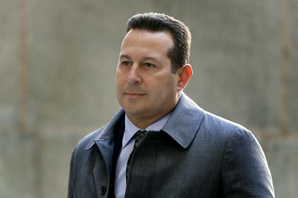 FILE - In this Jan. 25, 2019, file photo, attorney Jose Baez arrives at New York Supreme Court in New York. Harvey Weinstein is suing his one-time lawyer, Baez, for breach of contract and is seeking a refund on $1 million in legal fees he says he paid the high-profile attorney for a short stint on his legal team. (AP Photo/Julio Cortez, File)