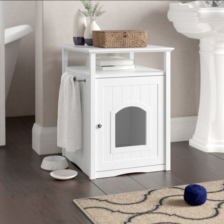 """<h3>Secret-Storage Litter Box</h3><p>Keep the kitty-litter contained with this creative dual-purpose piece that boasts a private interior for your feline and bonus home storage capabilities for you.</p><br><br><strong>Archie & Oscar</strong> Alfie Litter Box Enclosure, $83.91, available at <a href=""""https://www.jossandmain.com/furniture/pdp/adrianne-litter-box-end-table-aosc1034.html"""" rel=""""nofollow noopener"""" target=""""_blank"""" data-ylk=""""slk:Joss & Main"""" class=""""link rapid-noclick-resp"""">Joss & Main</a>"""
