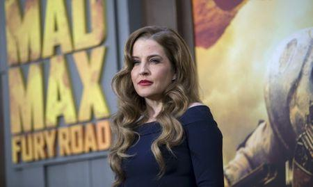 "Singer Presley poses at the premiere of ""Mad Max: Fury Road"" in Hollywood"