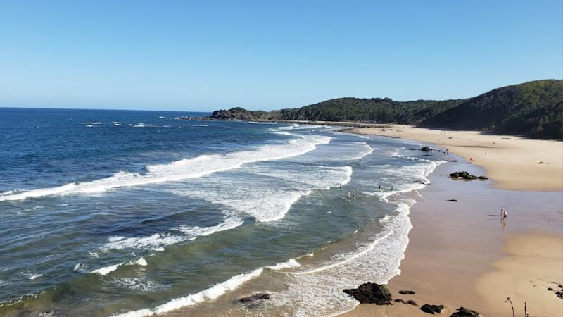 Shark attack at Shelly Beach, Port Macquarie; woman with severe leg injury