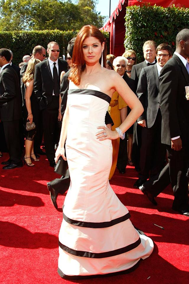 Debra Messing at the 59th Annual Primetime Emmy Awards in Los Angeles on September 16, 2007.