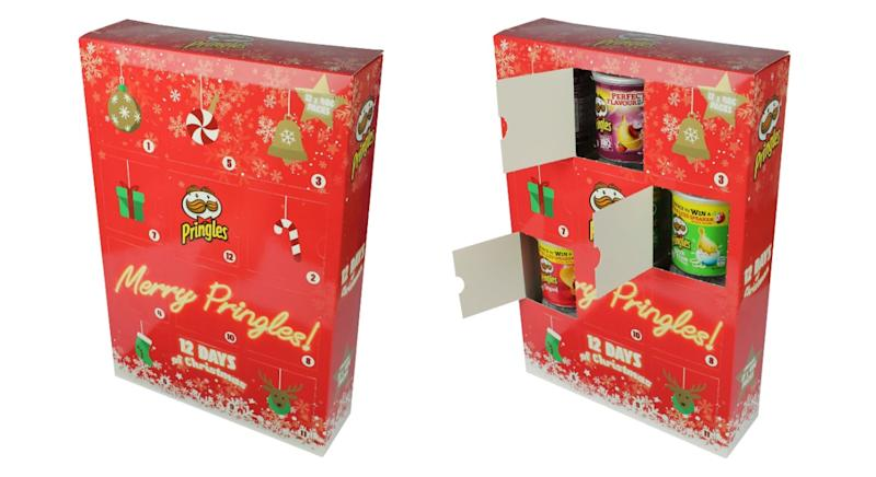 The Pringles advent calendar is back this festive season [Photo: B&M]