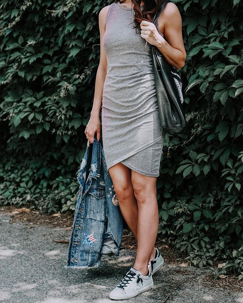 Nordstrom shoppers can't get enough of this affordable and versatile wrap dress Image via Instagram/stylemetactical.