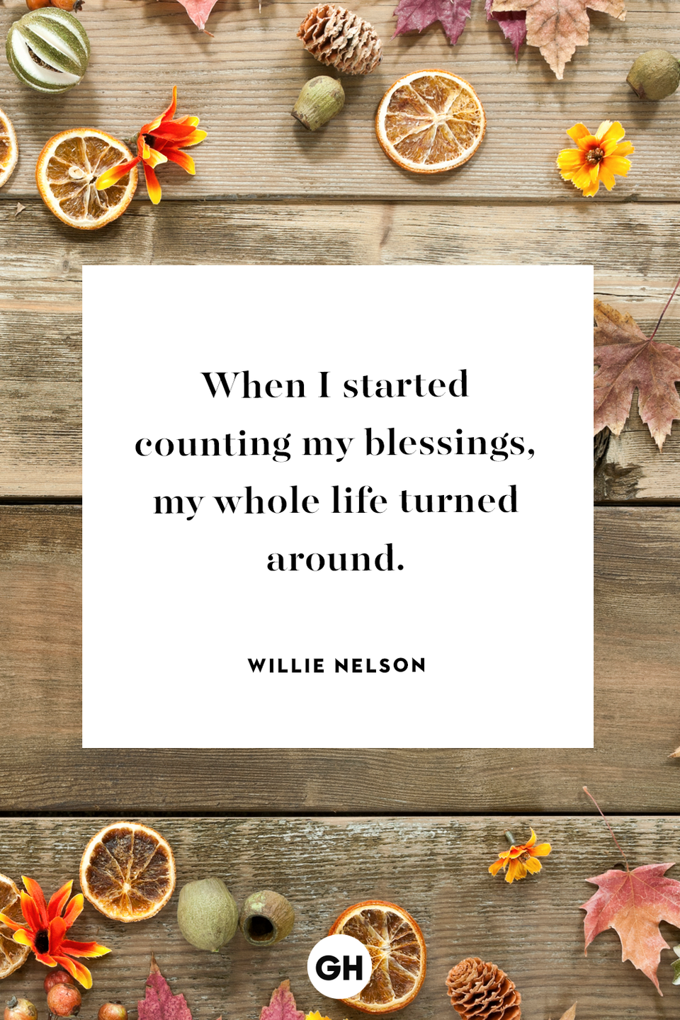 <p>When I started counting my blessings, my whole life turned around.</p>