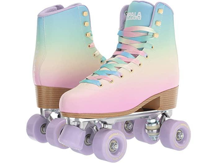 "<h3><a href=""https://impalarollerskates.com/"" rel=""nofollow noopener"" target=""_blank"" data-ylk=""slk:Impala"" class=""link rapid-noclick-resp"">Impala</a></h3> <br>Get on the mailing list for this Aussie roller-skate brand <em>now</em>. Even though everything on their site is completely sold out, you'll want to know when they start to re-stock their array of eye-catching, rainbow-hued quad skates. <br><br>(Size 6 ladies, you're in luck: we found one lone pair on Zappos.)<br><br><strong>Impala</strong> Quad Skate, $, available at <a href=""https://go.skimresources.com/?id=30283X879131&url=https%3A%2F%2Fwww.zappos.com%2Fp%2Fimpala-rollerskates-impala-quad-skate-big-kid-adult-pastel-fade%2Fproduct%2F9323885%2Fcolor%2F507724"" rel=""nofollow noopener"" target=""_blank"" data-ylk=""slk:Zappos"" class=""link rapid-noclick-resp"">Zappos</a><br><br><br>"