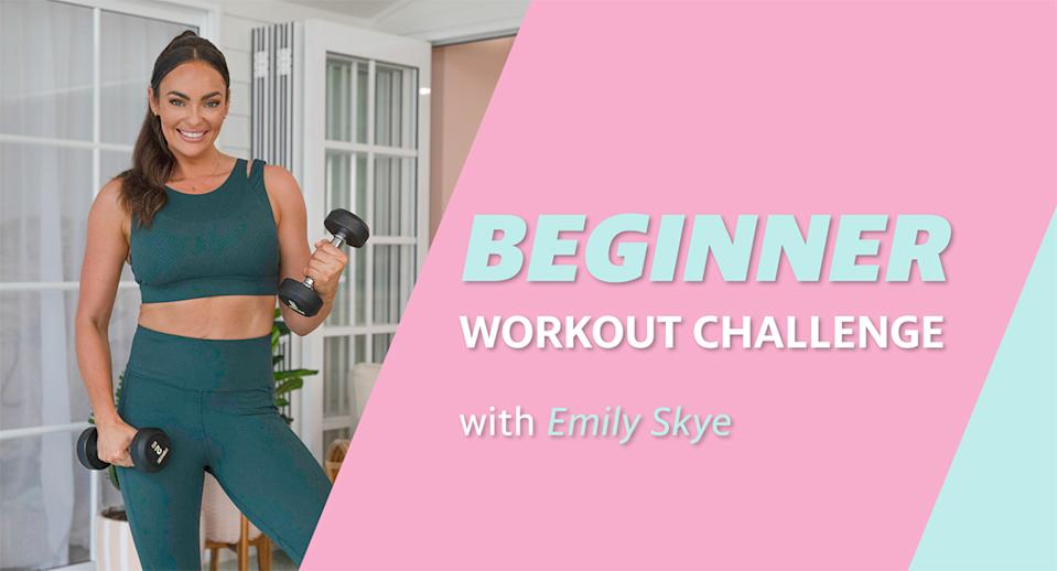 Yahoo Lifestyle's workout challenge with Emily Skye