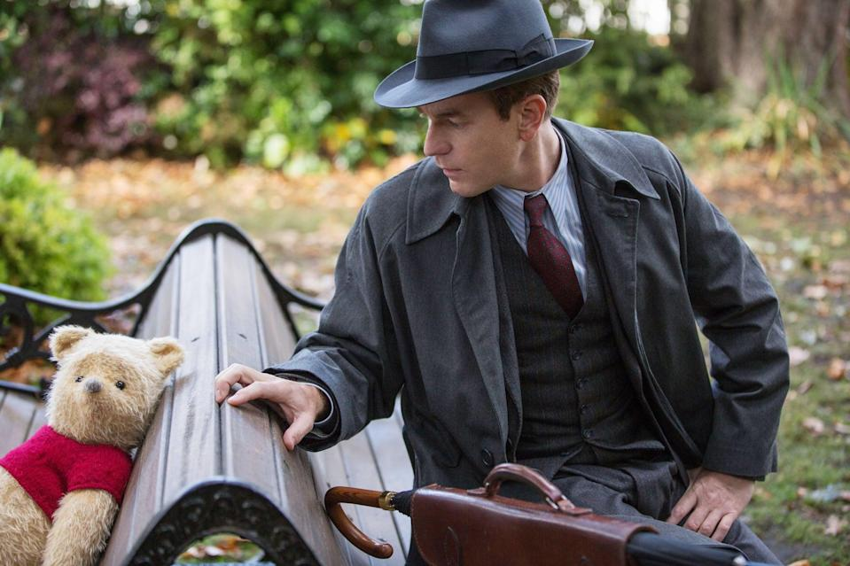 """<p><strong>What it's about:</strong> """"Christopher Robin - now a family man living in London - receives a surprise visit from his old childhood pal, Winnie-the-Pooh. With Christopher's help, Pooh embarks on a journey to find his friends - Tigger, Eeyore, Owl, Piglet, Rabbit, Kanga and Roo.""""</p> <p><strong>Ages it's best suited to:</strong> 7 and up</p> <p><a href=""""https://www.netflix.com/title/80221560"""" class=""""link rapid-noclick-resp"""" rel=""""nofollow noopener"""" target=""""_blank"""" data-ylk=""""slk:Watch Christopher Robin here!"""">Watch <strong>Christopher Robin</strong> here!</a></p>"""