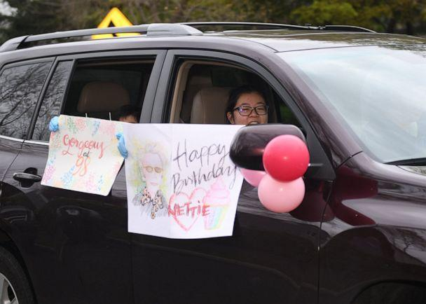 PHOTO: Nettie Bianchini turned 98-years-old on April 30, 2020, so friends and family surprised her with a birthday parade to celebrate while social distancing. (Donna Mueller Photography)