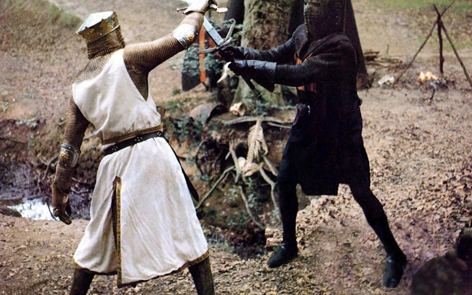 Graham Chapman and John Cleese in Monty Python & The Holy Grail. - EMI/REX/Shutterstock