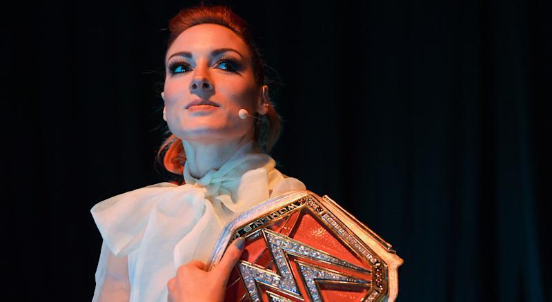 Becky Lynch is the face of WWE's Women's Division and could be a valuable member of your WWE fantasy team. (Getty Images)