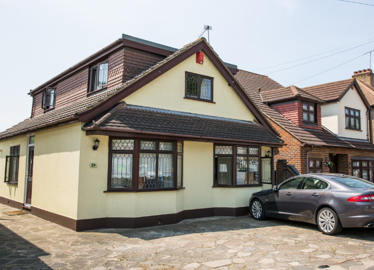 The three-bed semi-detached bungalow is valued at about £475,000 (Housesimple)