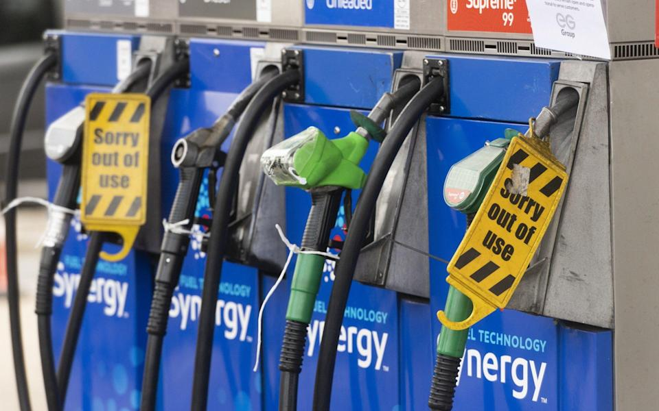 The Telegraph understands that between 1,500 and 2,000 filling stations have run out of at least one type of fuel - Ray Tang/Anadolu Agency via Getty Images