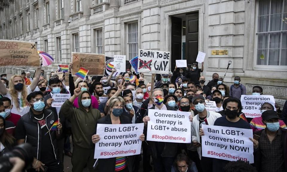 LGBT+ demonstration conversion therapy UK