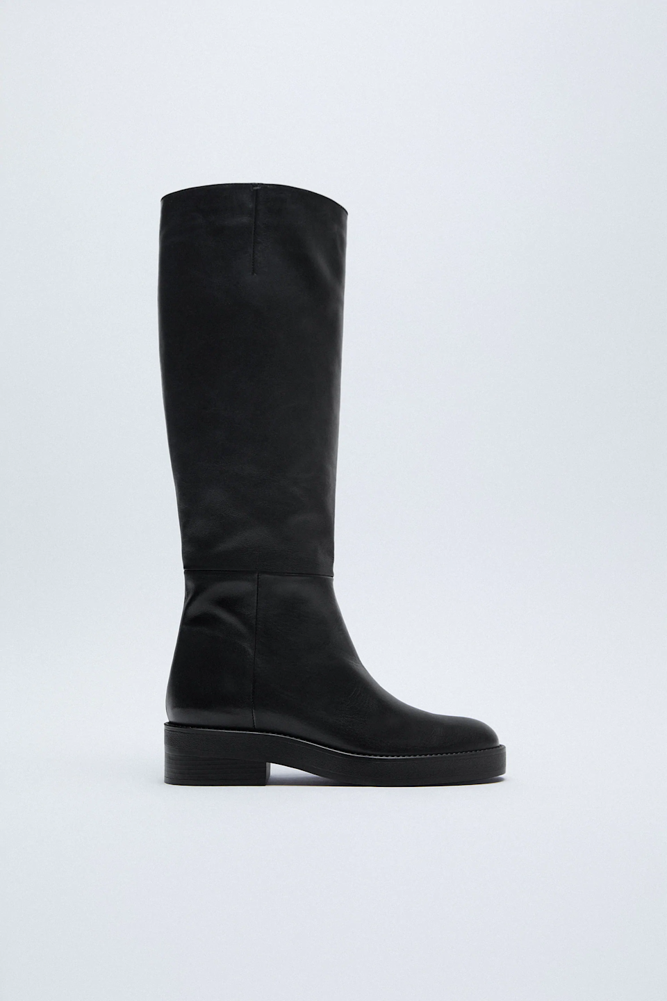 "There's no better gift than the one they've been eyeing for weeks.<br><br><strong>Zara</strong> Low Heeled Leather Tall Boots, $, available at <a href=""https://go.skimresources.com/?id=30283X879131&url=https%3A%2F%2Ffave.co%2F3nhmR9v"" rel=""nofollow noopener"" target=""_blank"" data-ylk=""slk:Zara"" class=""link rapid-noclick-resp"">Zara</a>"