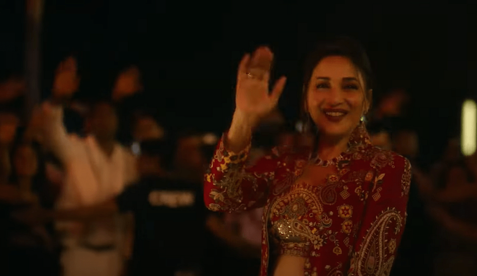"""<div class=""""paragraphs""""><p>Madhuri Dixit as Anamika Anand in <em>Finding Anamika.</em></p></div>"""