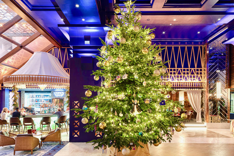 $15 Million Christmas Tree at Kempinski Hotel Bahia in Marbella, Spain