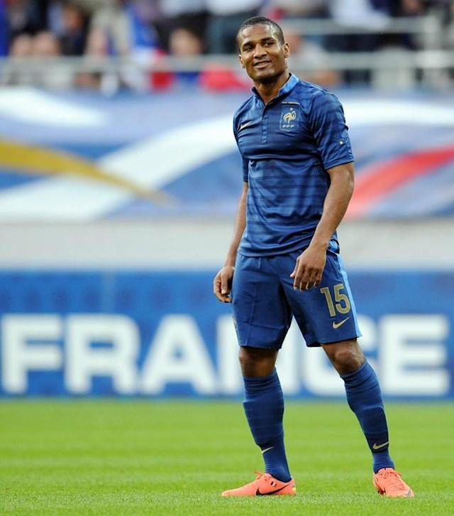 French midfielder Florent Malouda smiles after scoring a goal during the friendly football match France vs Serbia on May 31, 2012, at the Auguste Delaune stadium in Reims. AFP PHOTO / FRANCK FIFEFRANCK FIFE/AFP/GettyImages