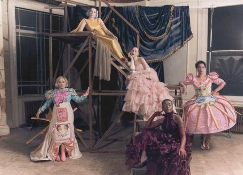 """<p>Netflix revealed, """"Bridgerton ROYALTY in outfits designed and created by @britishfashioncouncil scholars. Inspired by scandal, decadence and modern day gossip columns✨ """"</p><p><a href=""""https://www.instagram.com/p/CJbYggJH6C2/"""" rel=""""nofollow noopener"""" target=""""_blank"""" data-ylk=""""slk:See the original post on Instagram"""" class=""""link rapid-noclick-resp"""">See the original post on Instagram</a></p>"""