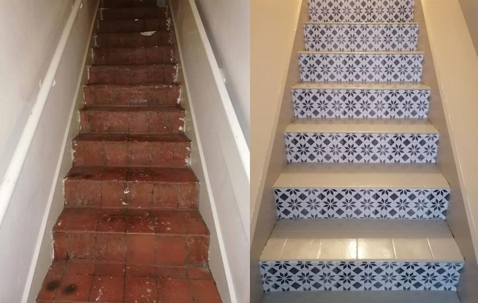 After being quoted £450 Danielle Duvall decided to overhaul her stairs herself. (Supplied latestdeals.co.uk)