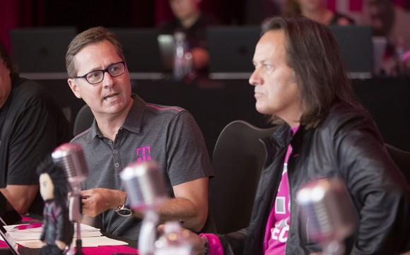 T-Mobile COO Mike Sievert and CEO John Legere
