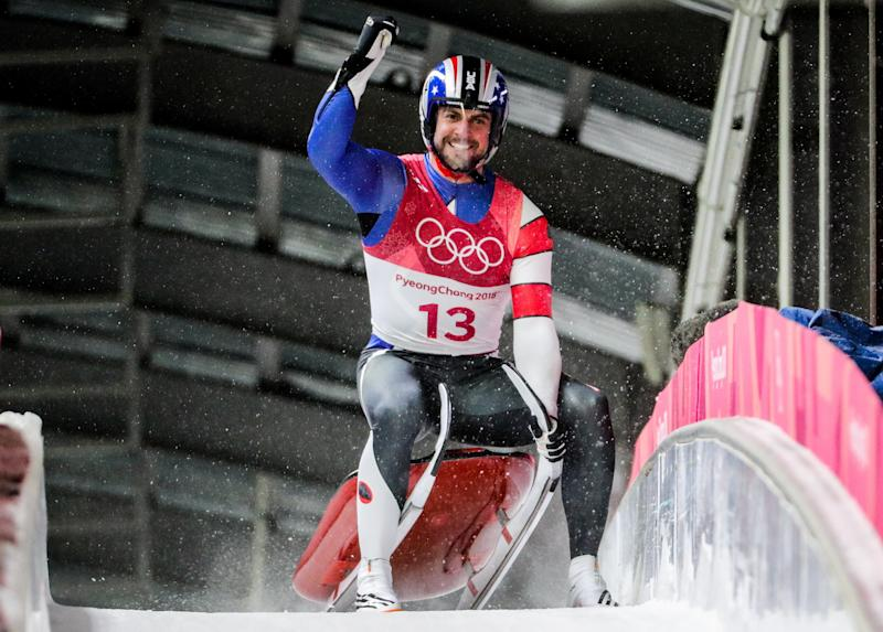 Chris Mazdzer won silver in the lugeevent over the weekend. (Sergei Bobylev via Getty Images)