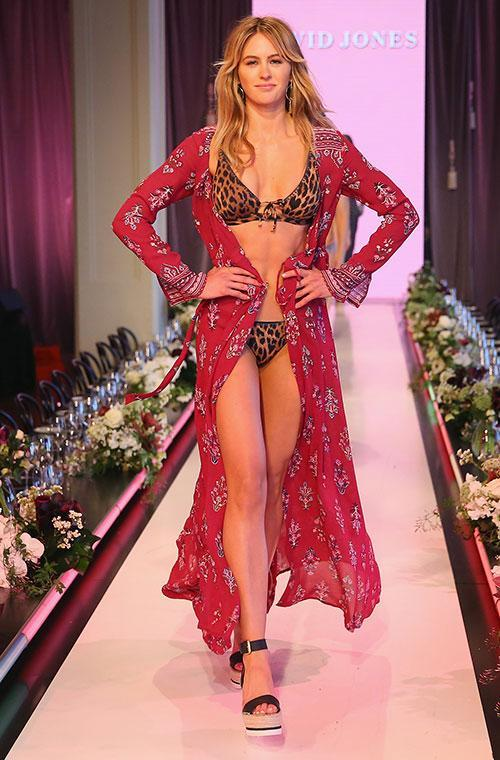 Bikinis were the order of the day at David Jones' Spring/Summer runway show on Wednesday night.