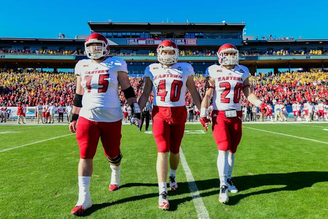Ketner Kupp (center) will join his brother on the Rams. (Photo by Tim Nwachukwu/NCAA Photos via Getty Images)