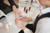 "<p>When getting a manicure or pedicure it's always appreciated if you tip 20 percent - especially if you really like the result. ""I like to compare it to at a restaurant where you tip between 15 to 25 percent on the total of your bill,"" celebrity manicurist <a href=""https://www.instagram.com/michellesaundersjames/?hl=en"" class=""link rapid-noclick-resp"" rel=""nofollow noopener"" target=""_blank"" data-ylk=""slk:Michelle Saunders"">Michelle Saunders</a> told <a href=""https://www.makeup.com/makeup-tutorials/expert-tips/how-much-to-tip-beauty-services"" class=""link rapid-noclick-resp"" rel=""nofollow noopener"" target=""_blank"" data-ylk=""slk:Makeup.com"">Makeup.com</a>. This means the more work your nail technician does, the bigger of a tip they get. </p>"