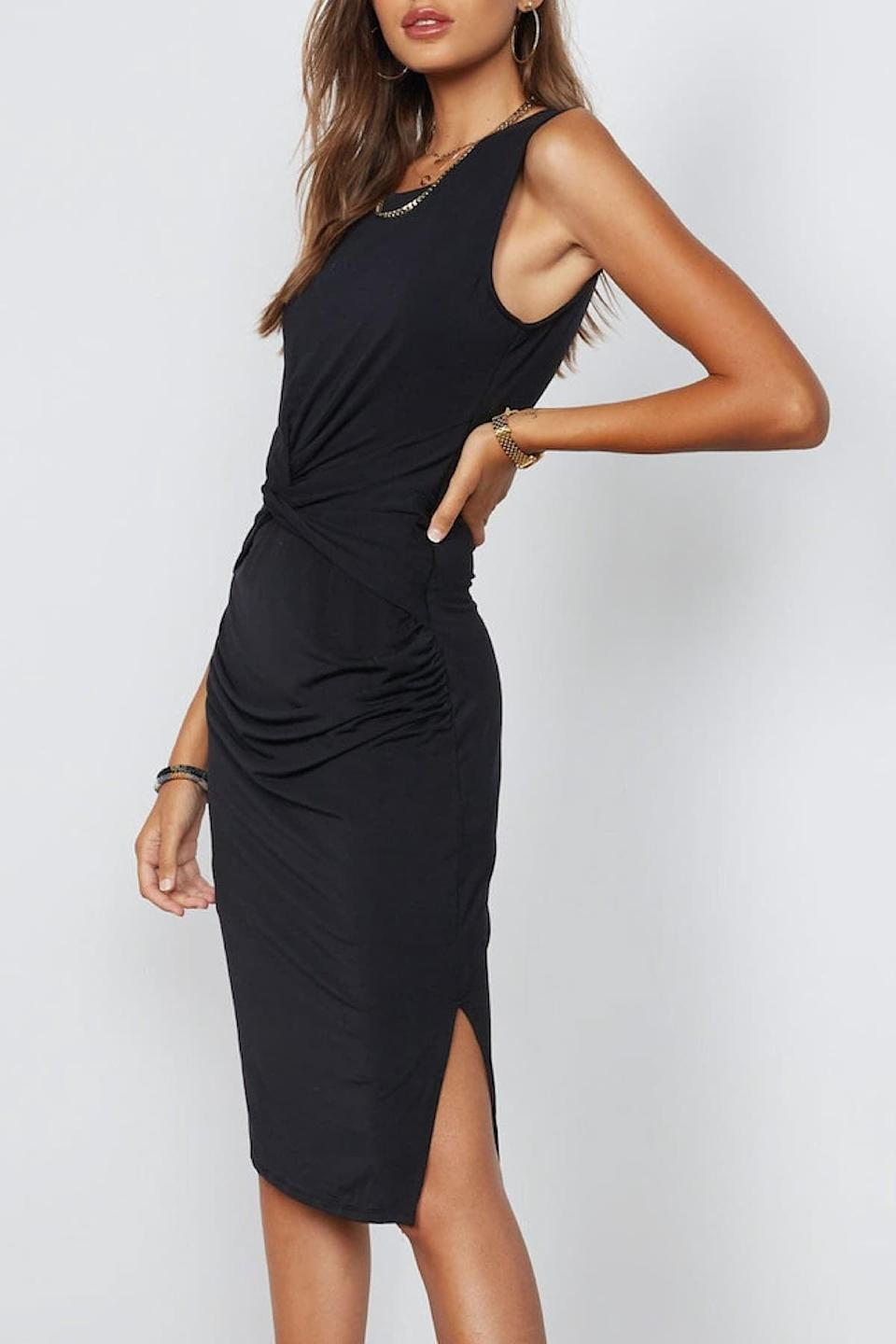 <p>How flattering is this <span>Tart Mardell Twist Midi Dress</span> ($45, originally $140)? It will hug you in all the right places.</p>