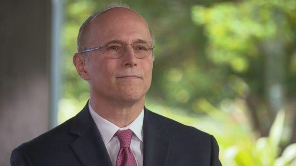 Reed Kathrein, a partner at Hagens Berman who sued Theranos and Holmes on behalf of investors, is seen here during an ABC News interview. (ABC News)