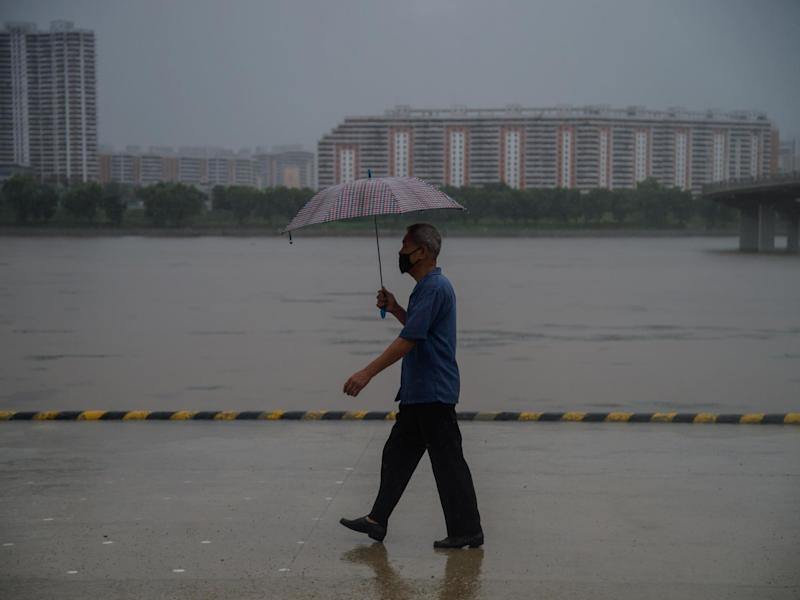 North Korea, where there have been no officially confirmed coronavirus cases to date, has recently been hit by heavy rain and some flash flooding: KIM WON JIN/AFP via Getty Images