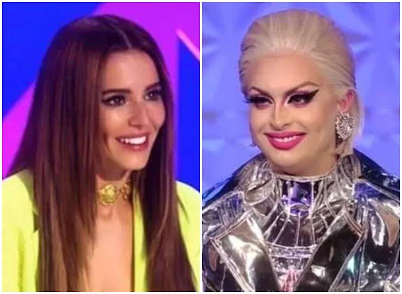 Cheryl Cole and Cheryl Hole met on this week's Drag Race UK (Photo: BBC)