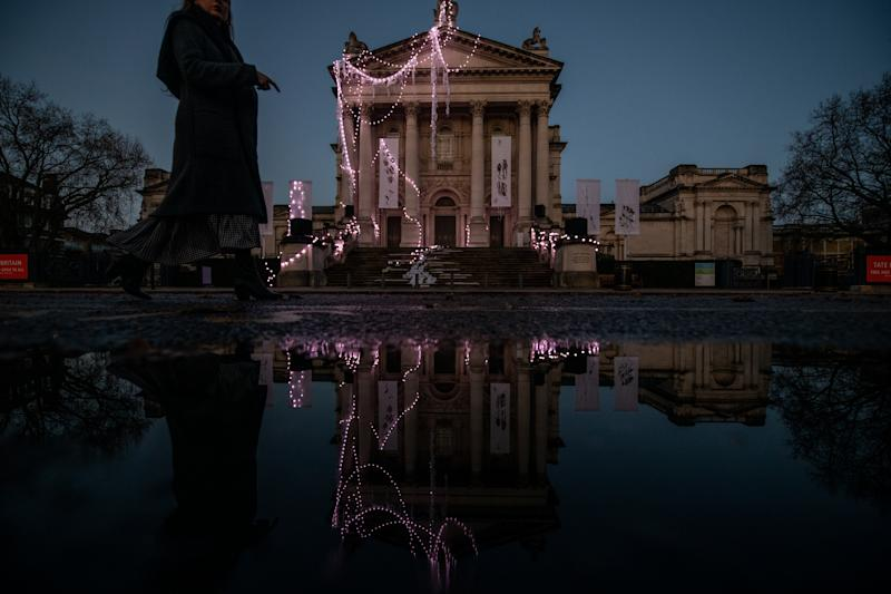 A sculptural installation by artist Anne Hardy is seen on the exterior of Tate Britain on Nov. 29, 2019 in London, England. | Chris J Ratcliffe—Getty Images