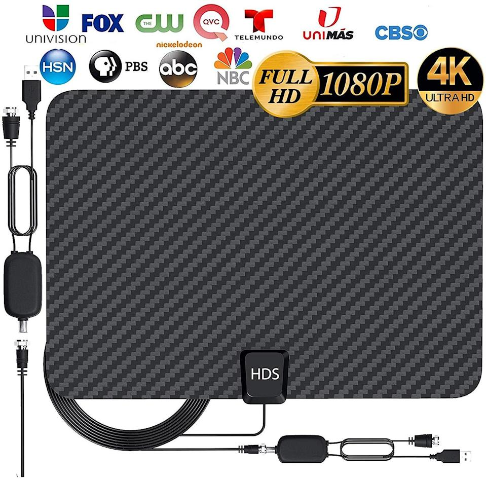 """<h3><a href=""""https://amzn.to/31QM40F"""" rel=""""nofollow noopener"""" target=""""_blank"""" data-ylk=""""slk:HDTV Digital Antenna"""" class=""""link rapid-noclick-resp"""">HDTV Digital Antenna</a></h3><br><strong>Lauren<br><br>How She Discovered It: </strong>""""Many of my millennial friends have been looking for ways to 'cut the cord' when it comes to cable. I was researching all different streaming services for live streaming cable channels. When adding up the costs plus the internet, we were coming out only a few dollars cheaper than having an actual cable box. The best thing I found was the HDTV Antenna. My dad had one in his garage and said he gets upwards of 60 channels. When I was looking on Amazon, this one had some of the best reviews and I purchased on a lightning deal for $21!"""" <br><br><strong>Why It's A Hidden Gem:</strong> """"We get 70 channels with this antenna. And all the channels are 4k quality clear. We really only wanted the major networks to be able to keep up with news and sports. I think most people still think antenna equals big ugly bunny ears on the top of your tv. This antenna is paper-thin, and we hung it up right behind our TV so you can't even see it. <br> The other reason I think this is a special hidden gem is it's a one time purchase of $21 and we get more channels then we need, compared to paying $40+ per/mo for streaming. I believe if more people know about these new high tech antennas they would be saving a ton of money every month!""""<br><br><strong>HDS</strong> HDTV Digital Antenna 4K 1080p, $, available at <a href=""""https://amzn.to/31QM40F"""" rel=""""nofollow noopener"""" target=""""_blank"""" data-ylk=""""slk:Amazon"""" class=""""link rapid-noclick-resp"""">Amazon</a>"""