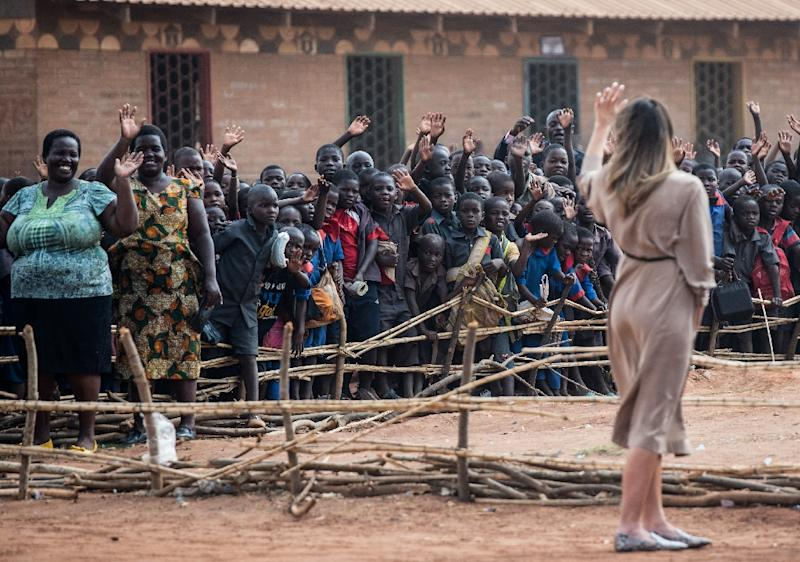 US First Lady Melania Trump who is in Africa to promote her children's welfare programme described her visit to the Chipala primary school in Malawi as