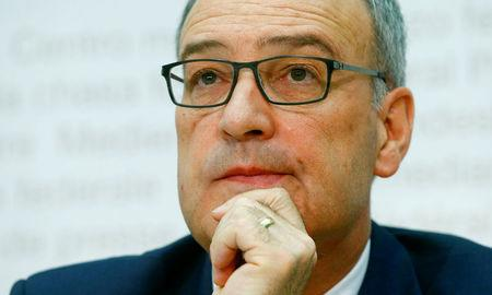 Switzerland's Defence Minister Parmelin attends a news conference in Bern