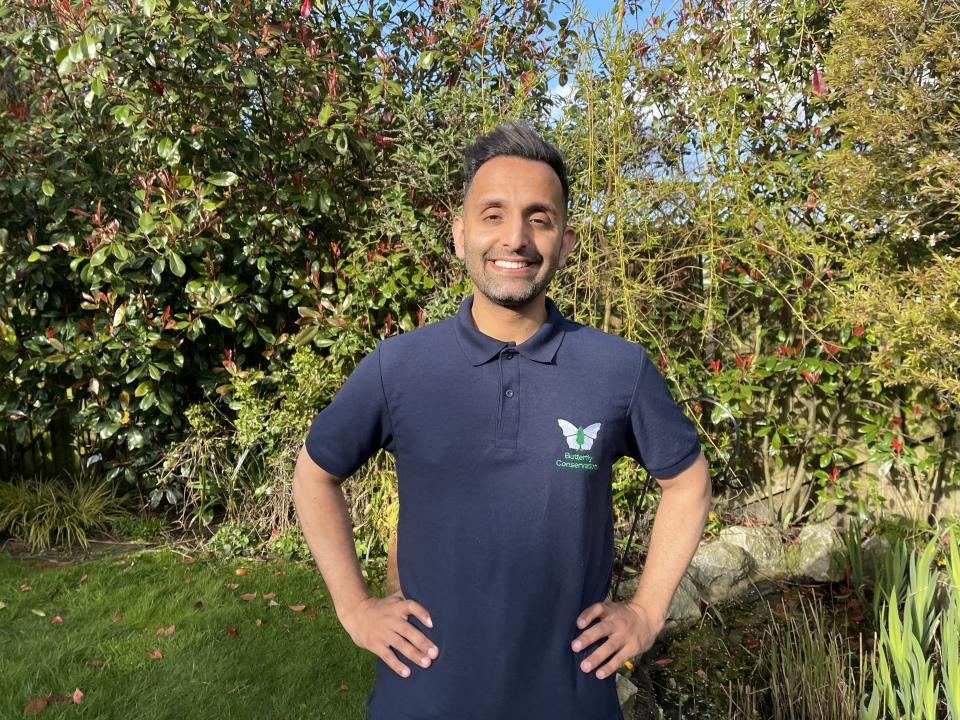 Dr Amir Khan, who is backing the Butterfly Conservation campaign