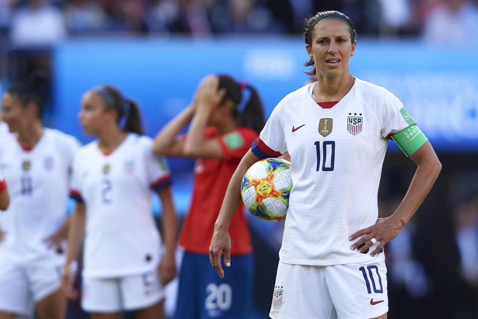 USWNT stars like Carli Lloyd have a decision to make regarding whether or not to play in the NWSL's proposed tournament. (Photo by Quality Sport Images/Getty Images)