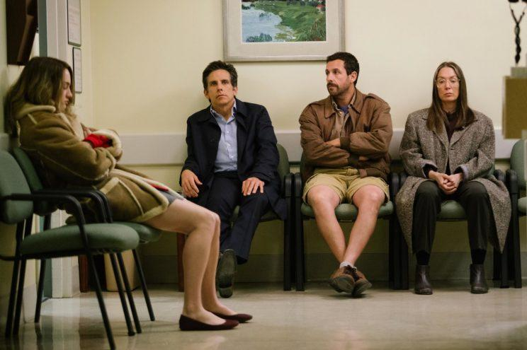Sandler... has himself a rare critical hit in new movie The Meyerowitz Stories - Credit: Netflix